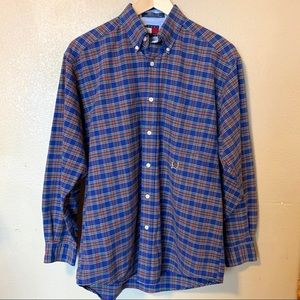 Tommy Hilfiger plaid button up top small